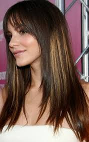 2014 Long Straight Hairstyle with Highlights Pretty Designs