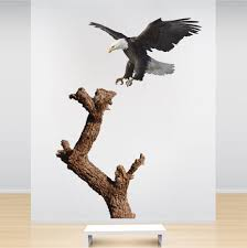 Wall Mural Decals Tree by Bald Eagle And Tree Decal Mural Tree Wall Decal Murals Primedecals