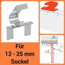 5 x universal sockel halterung korrekt turbo clip 12 25 mm befestigung klammer küche