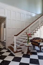West Indies Inspired Foyer Staircase Architectural Details French By CK Interior Design