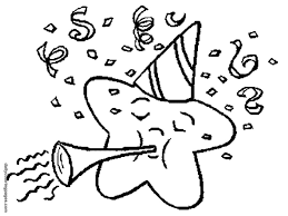 Cartoon Happy New Year Coloring Pages