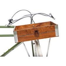 Sunlite Pine Classic Crate Front Bicycle Basket