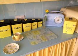 Yellow Kitchen Decoration Brilliant Terrific Blue And Decor Including Ceramic Canister