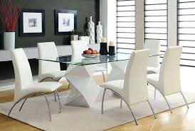 Glass Dining Table Set Captivating Room Sets Top With Photo And Chairs Clearance