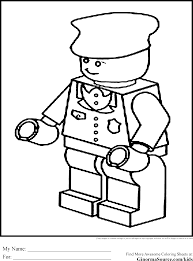 Police Lego Coloring Pages Train Engineer