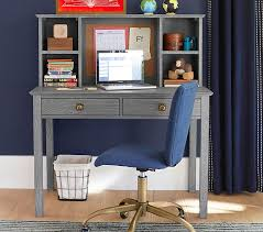 Black Writing Desk And Chair by Charlie Writing Desk U0026 Hutch Pottery Barn Kids