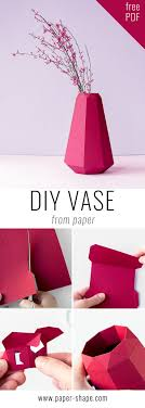 DIY Paper Flower Vase Sleeve With Free Template It Looks So Lovely And Is Pretty