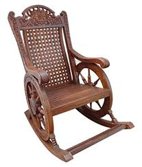 Shilpi Handicrafts Wooden Rocking Chair