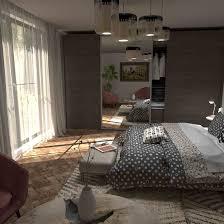schlafzimmer 3d visualisierung architektur in 3d