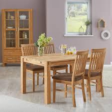 essgruppe royal oak 90x140 4 stühle braun