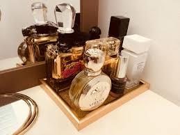 Vanity Perfume Display Idea Gold