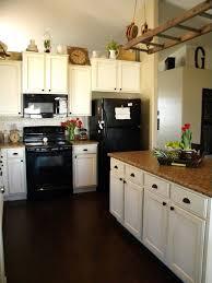 Kitchen Design White Cabinets Black Appliances Of Inspiring