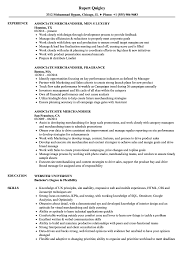 Download Merchandiser Associate Resume Sample As Image File