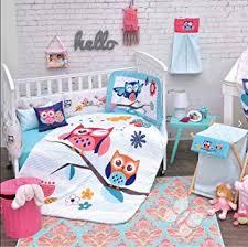 Amazon BABY GIRLS OWL CRIB BEDDING SET NURSERY 4 PCS Baby