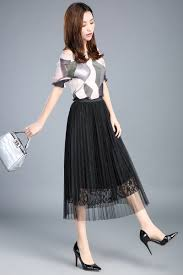 high quality chiffon skirt long pleated promotion shop for high