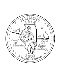 Illinois State Quarter Coloring Page