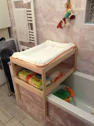 Vanity Table Ikea Hack by Over Bathtub Changing Table For Small Spaces Ikea Hackers Ikea