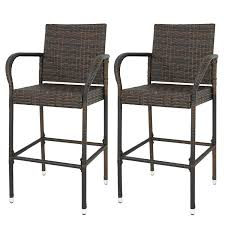 Amazon.com: ZENY Wicker Barstool All Weather Dining Chairs Outdoor ... Annabelle Outdoor Garden Fniture All Weather Wicker Rattan 10 Home Decators Collection Naples Brown Allweather Amazoncom Luckyermore 4pack Patio Chairs Belham Living Bella Ding Chair Set Of 2 Contemporary 150 Cm Teak Table 6 Shop Havenside Hampton Allweather Grey Round Terrain Tangkula 5 Pcs Resistant Coral Coast Brisbane Open Inspired Bistro Saint Tropez Stackable Whitecraft S6501 By Woodard Sommerwind Wickercom