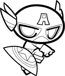 Captain America Coloring Pages For Coloringstar