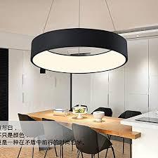 led pendelleuchte rund hängele modern 1 ring hängeleuchte pendelle decke beleuchtung leuchte schwarz led smd 36w metall und acryl durchmesser