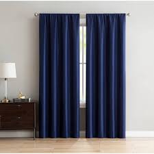 mainstays faux silk 84 rod pocket top window curtains set of 2