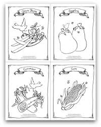 Free Printable Garden Green Beans Eggplant Cucumber And Corn Coloring Activity Page