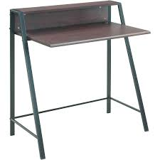 Mainstays Computer Desk Instructions by Amazon Com 2 Tier Writing Desk Multiple Finishes Space Saving