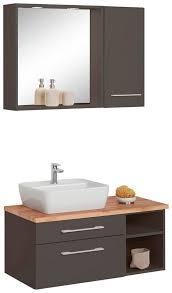 held möbel badmöbel set davos 3 tlg waschplatz hängeschrank und bad spiegel kaufen otto