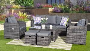 GREY RATTAN GARDEN FURNITURE SET SOFA + RECLINING CHAIRS ... Shop Aleko Wicker Patio Rattan Outdoor Garden Fniture Set Of 3 Pcs 4pc Sofa Conservatory Sunnydaze Tramore 4piece Gray Best Rattan Garden Fniture And Where To Buy It The Telegraph Akando Outdoor Table Chair Hog Giantex Chat Seat Loveseat Table Chairs Costway 4 Pc Lawn Weston Modern Beige Upholstered Grey Lounge Chair Riverdale 2 Bistro With High Webetop Setoutdoor Milano 4pc Setting Coffee
