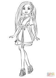 Lonnie From Descendants Wicked World Coloring Page Unusual Mal