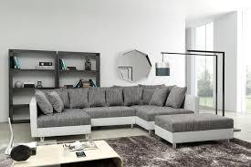 sofa ecksofa eckcouch in weiss hellgrau eckcouch mit hocker minsk