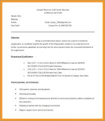 Resume Sample Call Center
