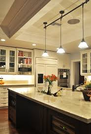 pendant track lighting kitchen traditional with cabinet front