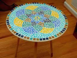 mosaic table top patio diy patterns tile ideas