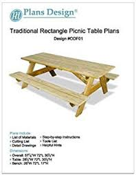 classic rectangle picnic table w benches woodworking plans