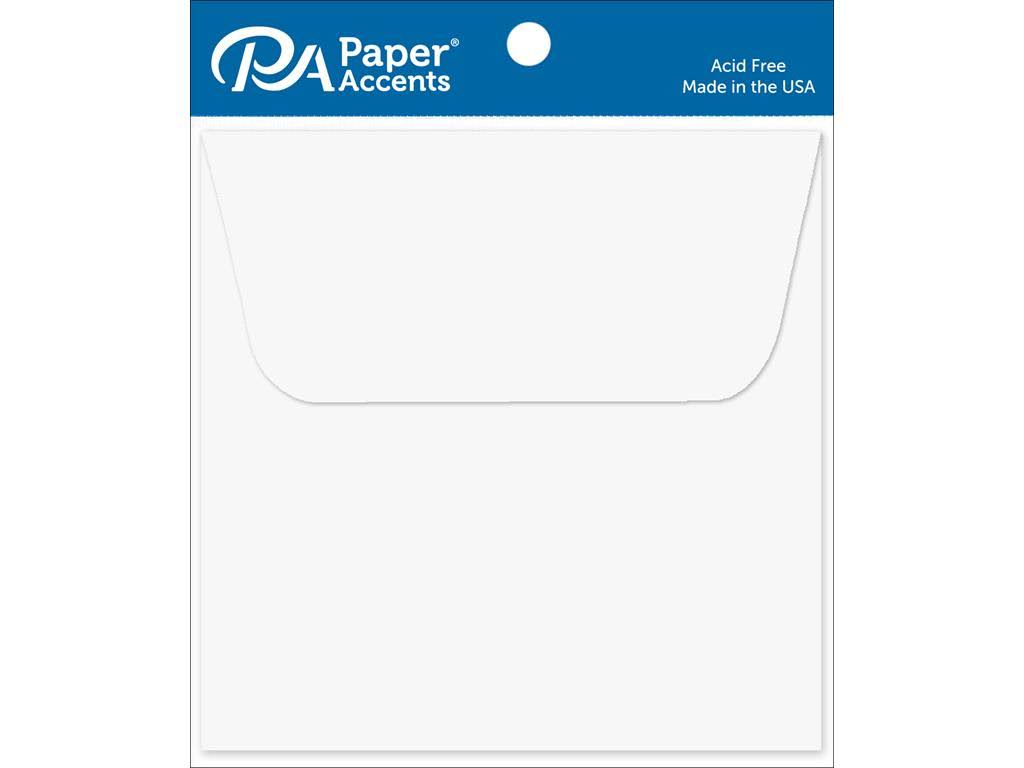 Paper Accents Adpe45-10 128 Envelope 4 5x4 5 10pc White