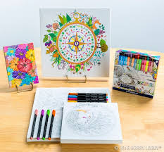From Hobbylobby Have You Started Your Christmas Shopping Yet Coloring Canvases Are The Perfect Present For
