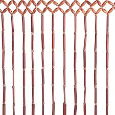 Natural Bamboo Beaded Door Curtain by Amazon Com Hudson Street Wooden Beaded Door Curtain Bamboo