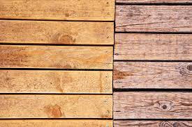 Download Weathered Outdoor Patio Wooden Flooring Texture Stock Image