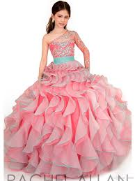 sale 2016 ball gown little girls pageant dresses one shoulder
