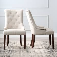 Upholstered Dining Chairs With Nailheads by Belham Living Thomas Tufted Tweed Dining Chairs Set Of 2