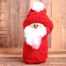 No Sew Sock Craft For Little Ones Santa Crafts Toddlers Christmas