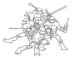 Les Tortues Ninja à Colorier JeColoreorg