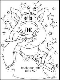 Picture Coloring Dental Pages For Preschool Download