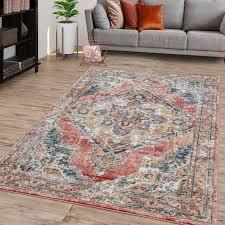 wohnzimmer teppich pastell marokkanisches design