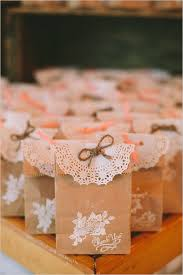 DIY Rustic Wedding Favors With Paper Bags