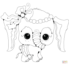 Click The Baby Elephant Girl Coloring Pages