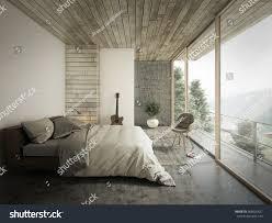 die loft stil schlafzimmer design 3d rendering