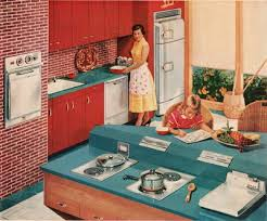 Sleek New Appliances Were Marketed To The Wife And Mother Homemaker Giving Home Designers Broader Opportunities For Designing Kitchen As A Family