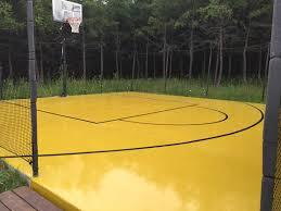 terrain de basket exterieur plancher d époxy extérieur terrain de jeux dion peinture